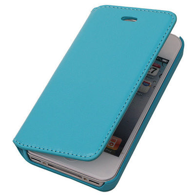 BestCases Turquoise Map Case Book Cover Hoesje voor Apple iPhone 5c