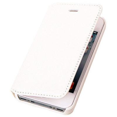BestCases Wit Map Case Book Cover Hoesje voor Apple iPhone 5c