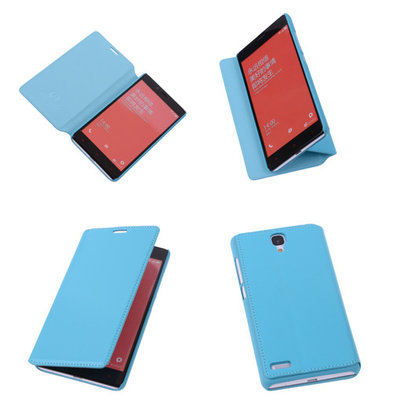 Bestcases Turquoise Hoesje voor XiaoMi Redmi Note Map Case Book Cover