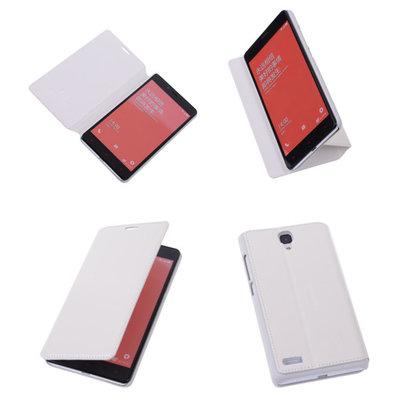 Bestcases Wit Hoesje voor XiaoMi Redmi Note Map Case Book Cover