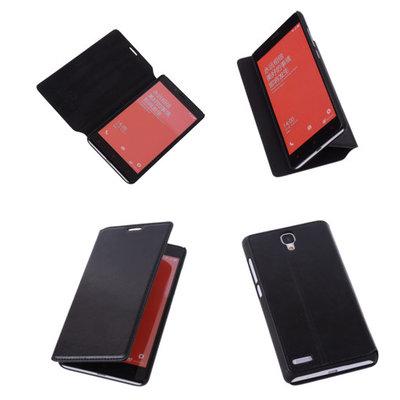 Bestcases Zwart Hoesje voor XiaoMi Redmi Note Map Case Book Cover