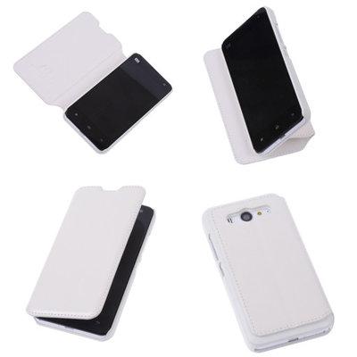 Bestcases Wit Hoesje voor XiaoMi Mi 2 Map Case Book Cover