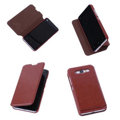 Bestcases Bruin Hoesje voor XiaoMi Mi 2 Map Case Book Cover