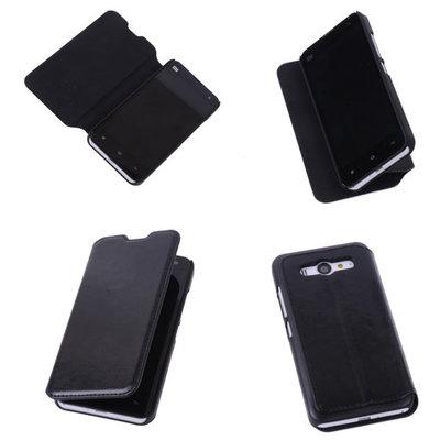 Bestcases Zwart Hoesje voor XiaoMi Mi 2 Map Case Book Cover