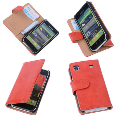 Bestcases Vintage Oranje Book Cover Samsung Galaxy S Plus
