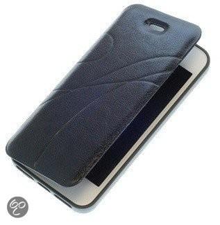 Bestcases Zwart TPU Booktype Motief Hoesje voor Apple iPhone 4 4s