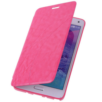 Bestcases Pink Samsung Galaxy S4 Active TPU Book Case Flip Cover Motief