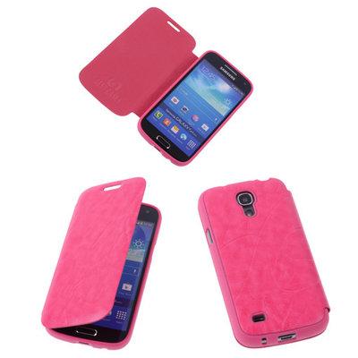 Bestcases Roze TPU Booktype Motief Hoesje voor Samsung Galaxy S4 mini