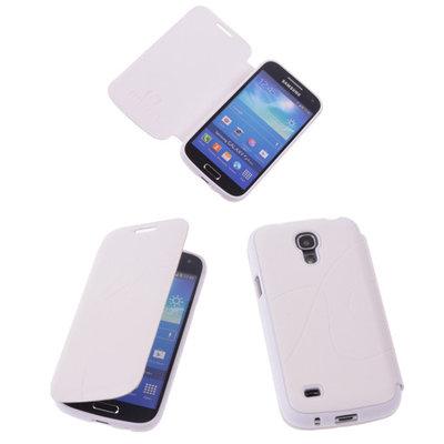 Bestcases Wit TPU Booktype Motief Hoesje voor Samsung Galaxy S4 mini