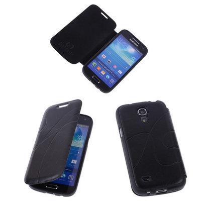 Bestcases Zwart TPU Book Case Flip Cover Motief Hoesje voor Samsung Galaxy S4 Mini