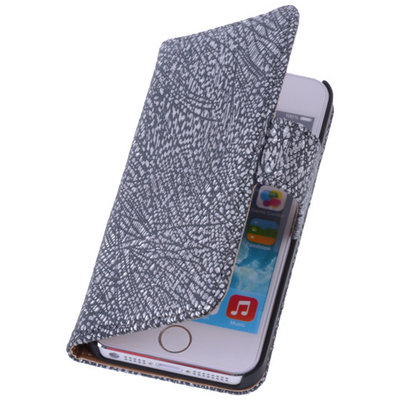 BestCases Glamour Zwart Echt Leer Wallet Case Hoesje voor Apple iPhone 4 4S