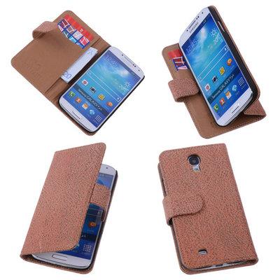 BestCases Glamour Gold Hoesje voor Samsung Galaxy S4 Echt Leer Wallet Case