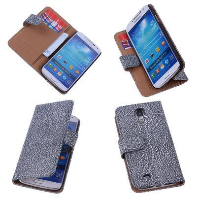BestCases Glamour Zwart Hoesje voor Samsung Galaxy S4 Echt Leer Wallet Case