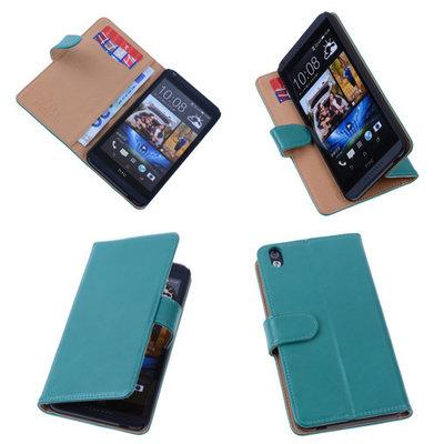 PU Leder Groen Hoesje voor HTC Desire 816 Book/Wallet Case/Cover s