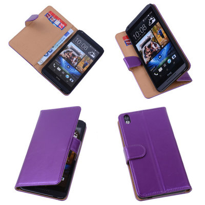 PU Leder Lila Hoesje voor HTC Desire 816 Book/Wallet Case/Cover s