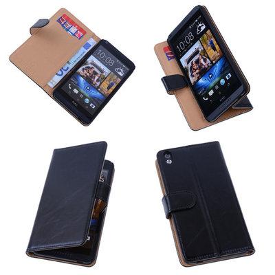 PU Leder Zwart Hoesje voor HTC Desire 816 Book/Wallet Case/Cover s