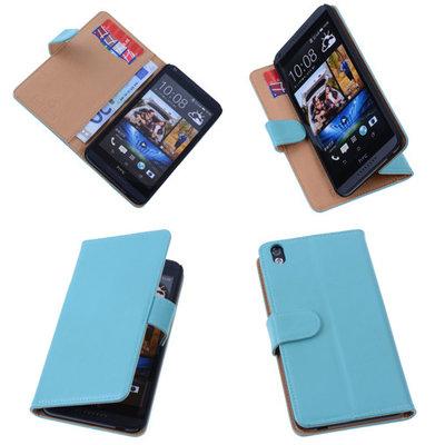 PU Leder Turquoise Hoesje voor HTC Desire 816 Book/Wallet Case/Cover s