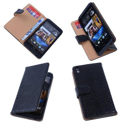 Bestcases Slang Zwart Hoesje voor HTC Desire 816 Bookcase Cover