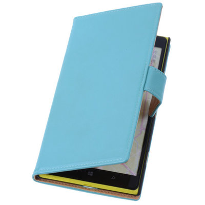 PU Leder Turquoise Hoesje voor Nokia Lumia 1320 Book/Wallet Case/Cover