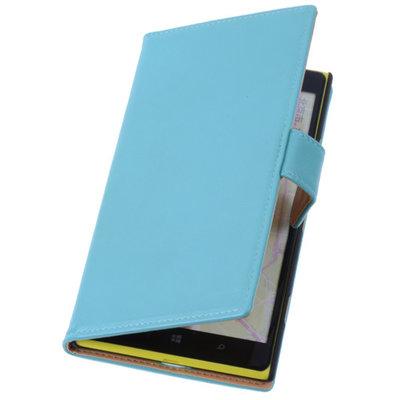 PU Leder Turquoise Hoesje Nokia Lumia 1320 Book/Wallet Case/Cover