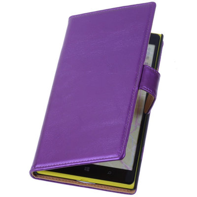 PU Leder Lila Hoesje voor Nokia Lumia 1320 Book/Wallet Case/Cover