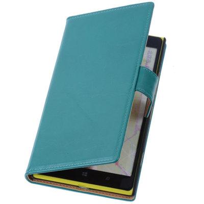 PU Leder Groen Hoesje voor Nokia Lumia 1320 Book/Wallet Case/Cover