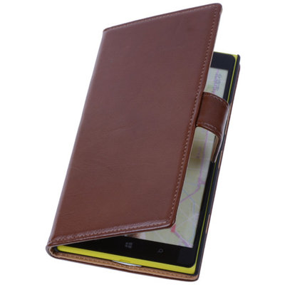 PU Leder Bruin Hoesje voor Nokia Lumia 1320 Book/Wallet Case/Cover