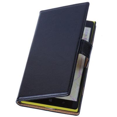 PU Leder Zwart Hoesje voor Nokia Lumia 1320 Book/Wallet Case/Cover