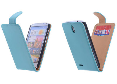 Classic Turquoise Hoesje voor Huawei Ascend G610 PU Leder Flip Case