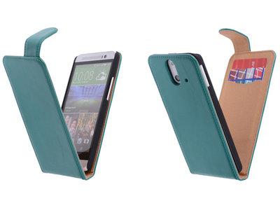 Classic Groen Hoesje voor HTC One E8 PU Leder Flip Case