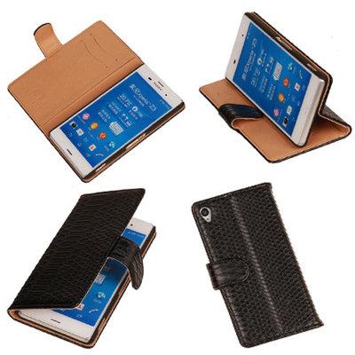 "BC ""Slang"" Zwart Hoesje voor Sony Xperia Z3 Bookcase Wallet Cover"