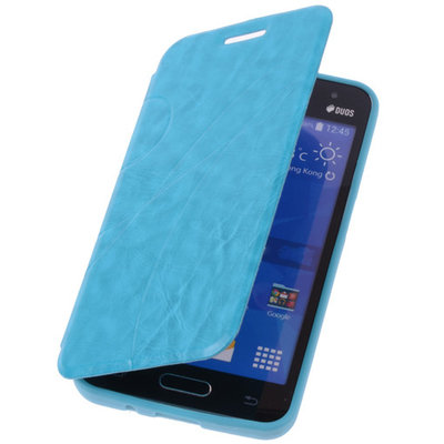 Bestcases Turquoise Hoesje voor Samsung Galaxy V TPU Book Case Flip Cover Motief