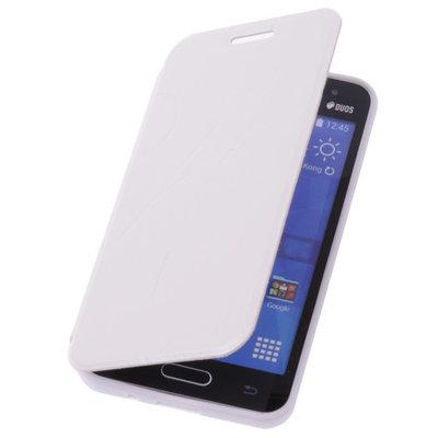 Bestcases Wit Hoesje voor Samsung Galaxy V TPU Book Case Flip Cover Motief