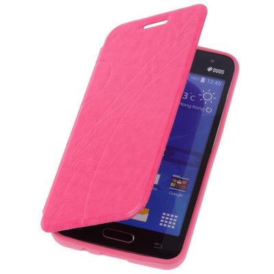 Bestcases Pink Hoesje voor Samsung Galaxy V TPU Book Case Flip Cover Motief