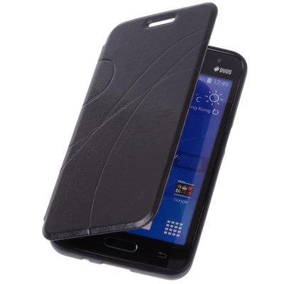 Bestcases Zwart Hoesje voor Samsung Galaxy V TPU Book Case Flip Cover Motief