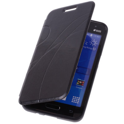 Bestcases Zwart Samsung Galaxy V TPU Book Case Flip Cover Motief