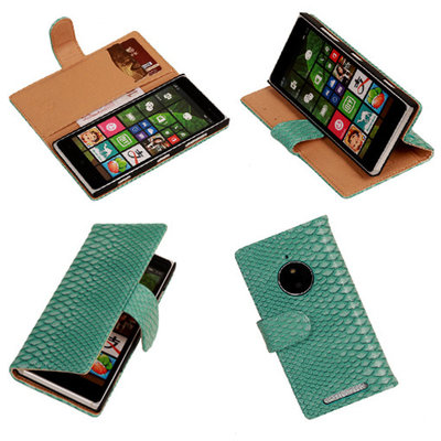 BC Slang Turquoise Hoesje voor Nokia Lumia 830 Bookcase Wallet Cover