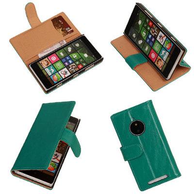 PU Leder Groen Hoesje voor Nokia Lumia 830 Book/Wallet Case/Cover