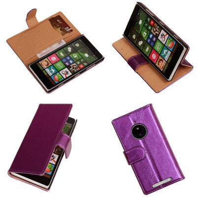 PU Leder Lila Hoesje voor Nokia Lumia 830 Book/Wallet Case/Cover