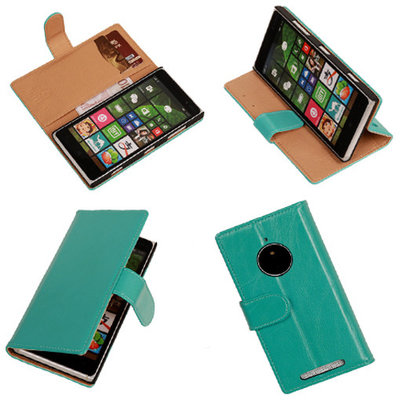 PU Leder Turquoise Hoesje voor Nokia Lumia 830 Book/Wallet Case/Cover