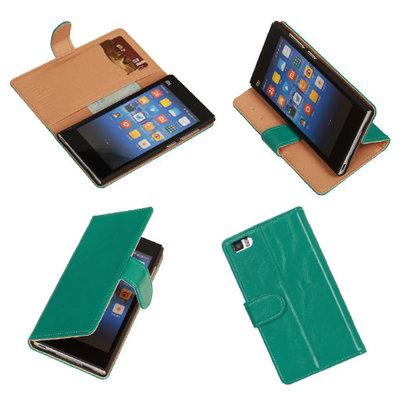 PU Leder Groen Hoesje voor XiaoMi Mi3 Book/Wallet Case/Cover