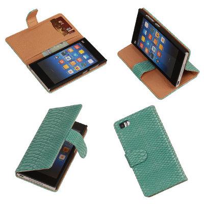 """""""Slang"""" Turquoise Hoesje voor XiaoMi Mi3 Bookcase Wallet Cover"""