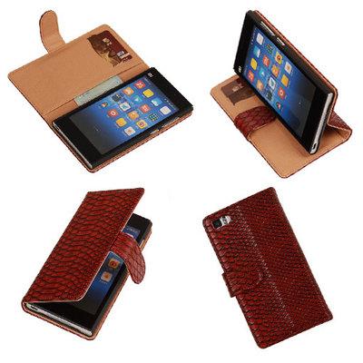"""""""Slang"""" Rood Hoesje voor XiaoMi Mi3 Bookcase Wallet Cover"""