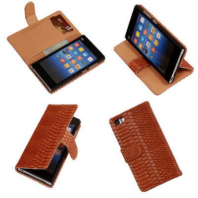 """""""Slang"""" Bruin Hoesje voor XiaoMi Mi3 Bookcase Wallet Cover"""