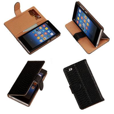 BC Slang Zwart Hoesje voor XiaoMi Mi3 Bookcase Wallet Cover