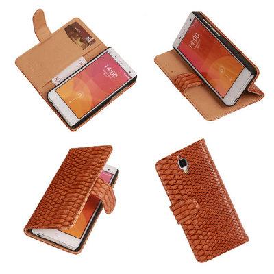 """""""Slang"""" Bruin Hoesje voor XiaoMi Mi4 Bookcase Wallet Cover"""