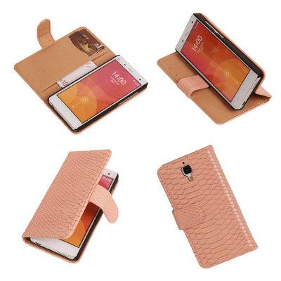 """""""Slang"""" Pink Hoesje voor XiaoMi Mi4 Bookcase Wallet Cover"""