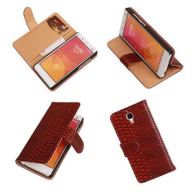 """""""Slang"""" Rood Hoesje voor XiaoMi Mi4 Bookcase Wallet Cover"""