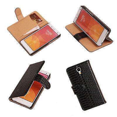"""""""Slang"""" Zwart Hoesje voor XiaoMi Mi4 Bookcase Wallet Cover"""