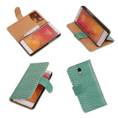 """""""Slang"""" Turquoise Hoesje voor XiaoMi Mi4 Bookcase Wallet Cover"""